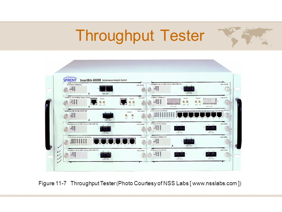 Throughput Tester Figure 11-7 Throughput Tester (Photo Courtesy of NSS Labs [ www.nsslabs.com ])
